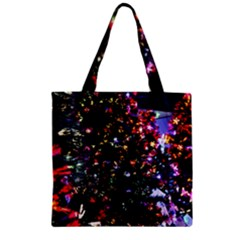 Abstract Background Celebration Zipper Grocery Tote Bag