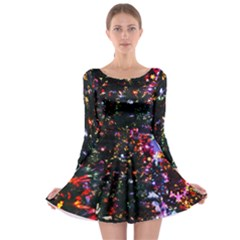 Abstract Background Celebration Long Sleeve Skater Dress