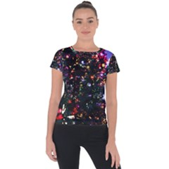 Abstract Background Celebration Short Sleeve Sports Top