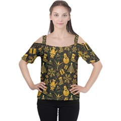 Christmas Background Cutout Shoulder Tee
