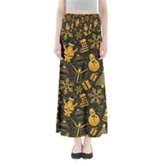 Christmas Background Full Length Maxi Skirt
