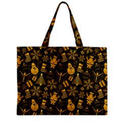 Christmas Background Zipper Medium Tote Bag