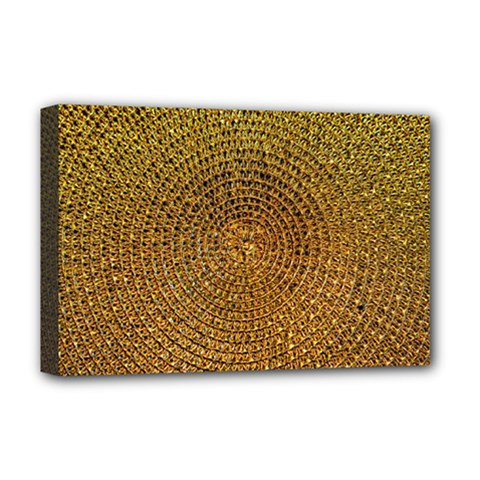 Background Gold Pattern Structure Deluxe Canvas 18  X 12