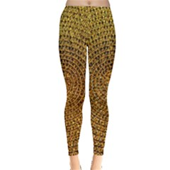 Background Gold Pattern Structure Leggings