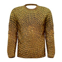 Background Gold Pattern Structure Men s Long Sleeve Tee