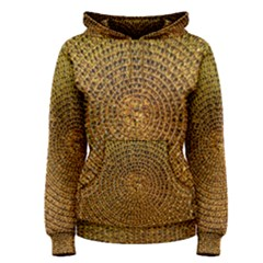 Background Gold Pattern Structure Women s Pullover Hoodie