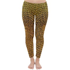 Background Gold Pattern Structure Classic Winter Leggings