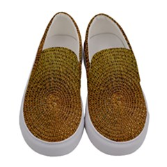 Background Gold Pattern Structure Women s Canvas Slip Ons