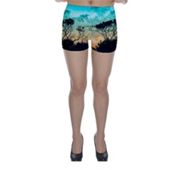 Trees Branches Branch Nature Skinny Shorts