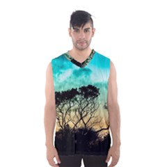 Trees Branches Branch Nature Men s Basketball Tank Top