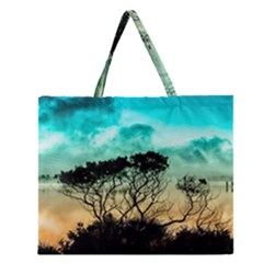 Trees Branches Branch Nature Zipper Large Tote Bag