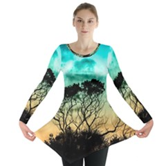 Trees Branches Branch Nature Long Sleeve Tunic