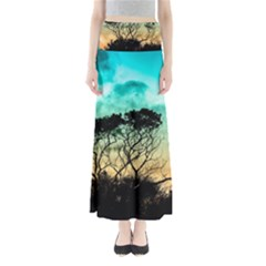 Trees Branches Branch Nature Full Length Maxi Skirt
