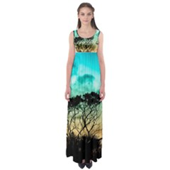 Trees Branches Branch Nature Empire Waist Maxi Dress