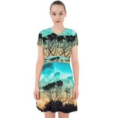 Trees Branches Branch Nature Adorable In Chiffon Dress