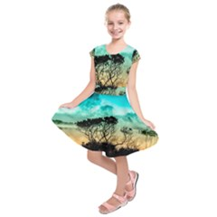 Trees Branches Branch Nature Kids  Short Sleeve Dress