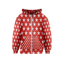 Star Christmas Advent Structure Kids  Zipper Hoodie