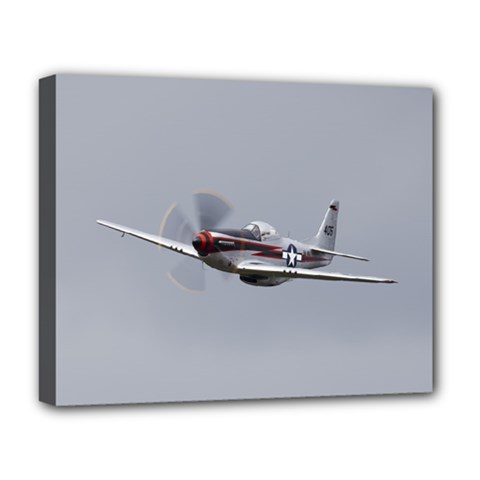 P 51 Mustang Flying Deluxe Canvas 20  X 16