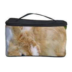 Beautiful Blue Eyed Bunny On Green Grass Cosmetic Storage Case