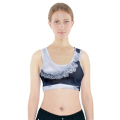 Ice, Snow And Moving Water Sports Bra With Pocket