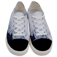 Ice, Snow And Moving Water Women s Low Top Canvas Sneakers