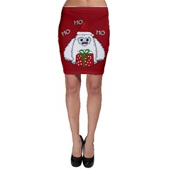 Yeti Xmas Bodycon Skirt