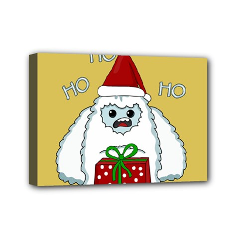 Yeti Xmas Mini Canvas 7  X 5