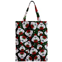 Yeti Xmas Pattern Zipper Classic Tote Bag