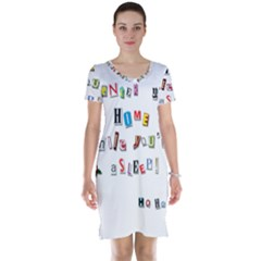 Santa s Note Short Sleeve Nightdress