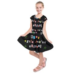 Santa s Note Kids  Short Sleeve Dress