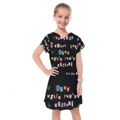 Santa s Note Kids  Drop Waist Dress