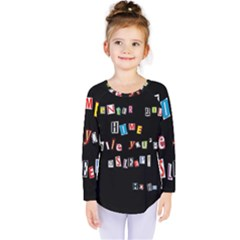 Santa s Note Kids  Long Sleeve Tee