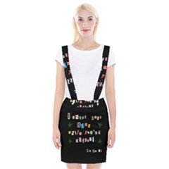 Santa s Note Braces Suspender Skirt