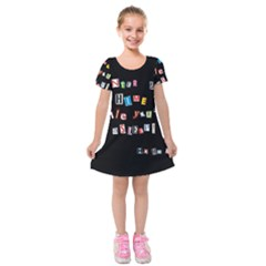Santa s Note Kids  Short Sleeve Velvet Dress