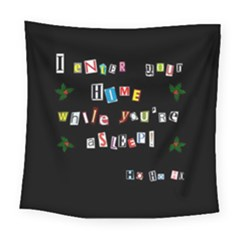 Santa s Note Square Tapestry (large)