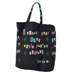 Santa s Note Giant Grocery Zipper Tote