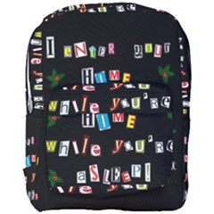 Santa s Note Full Print Backpack