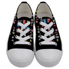 Santa s Note Kids  Low Top Canvas Sneakers
