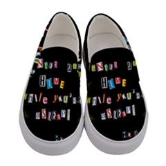 Santa s Note Women s Canvas Slip Ons