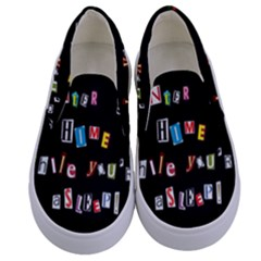 Santa s Note Kids  Canvas Slip Ons