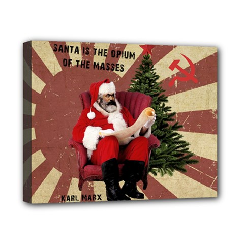 Karl Marx Santa  Canvas 10  X 8