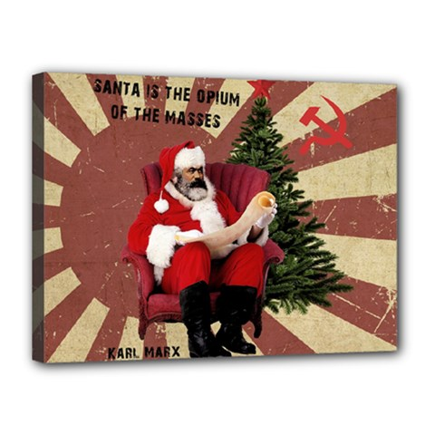 Karl Marx Santa  Canvas 16  X 12