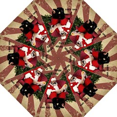 Karl Marx Santa  Folding Umbrellas