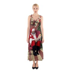 Karl Marx Santa  Sleeveless Maxi Dress