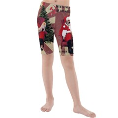 Karl Marx Santa  Kids  Mid Length Swim Shorts