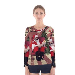 Karl Marx Santa  Women s Long Sleeve Tee