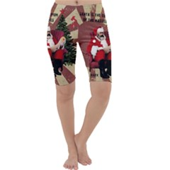 Karl Marx Santa  Cropped Leggings