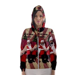 Karl Marx Santa  Hooded Wind Breaker (women)