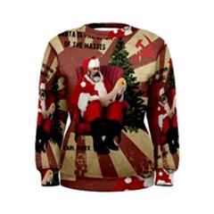 Karl Marx Santa  Women s Sweatshirt