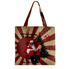 Karl Marx Santa  Zipper Grocery Tote Bag